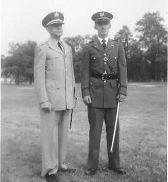 Col Holman and Adj Frank Haight